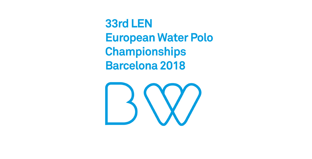 Finalist project, 33RD LEN EUROPEAN WATER POLO CHAMPIONSHIPS BARCELONA 2018 Branding and visual identity - Main slider
