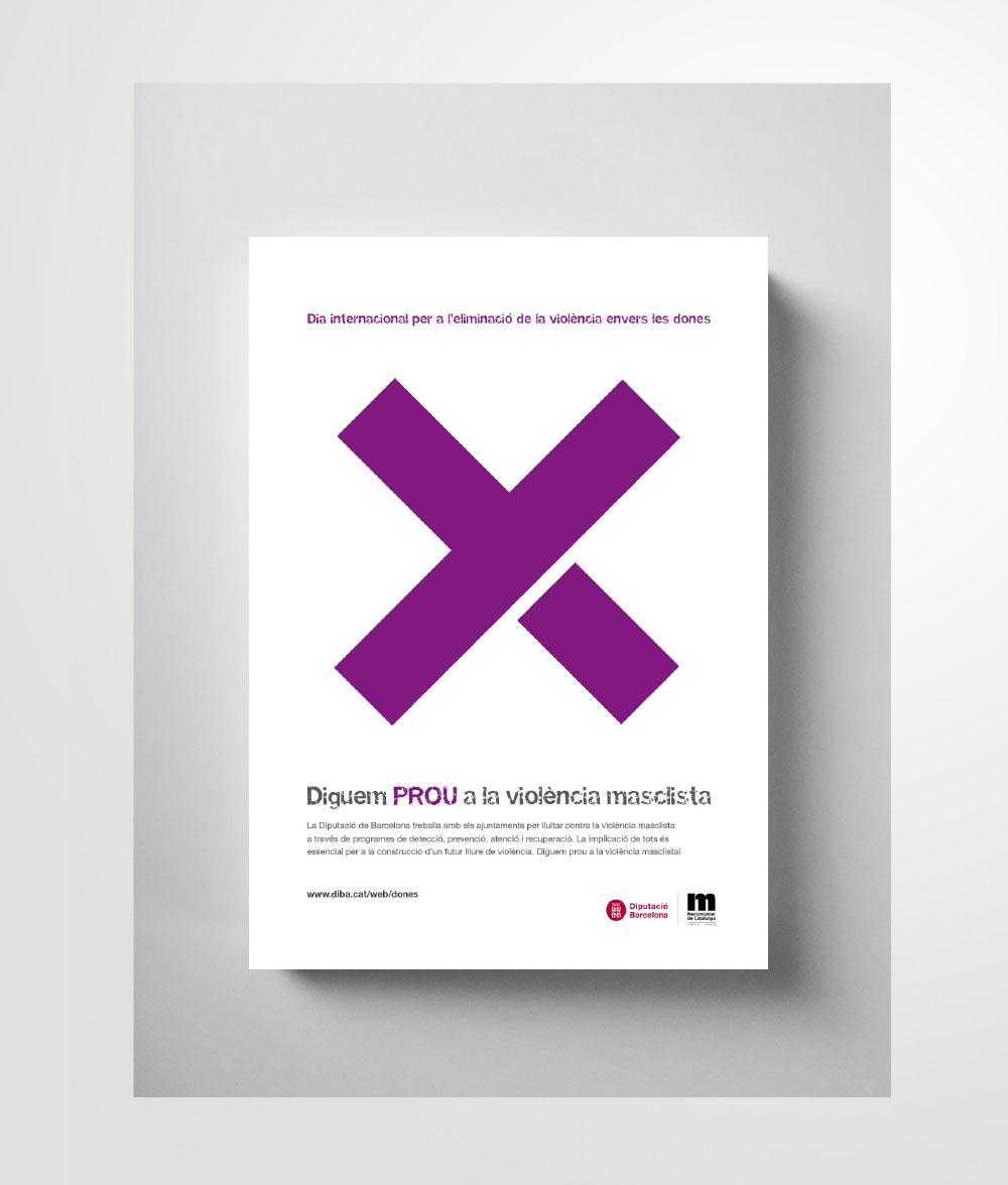 """Diputació de Barcelona - Poster design. """"Dia Internacional per a l'eliminació de la violència envers les dones"""" - Main images"""