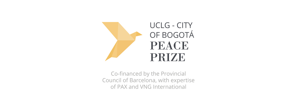 VNG International The Hague - Graphic image of International Peace Prize, City of Bogotá - Main images